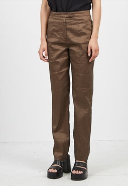 Vintage Brown Trousers Bottoms