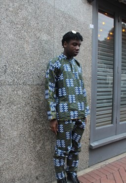 African Print Cothing - Kente Trousers - Festival Outfit