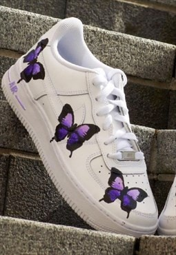 Purple Butterfly Custom Airforce 1
