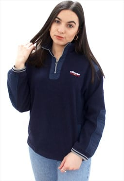 90's Retro Blue Fleece Jacket