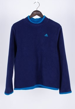 Vintage 80s Blue High Neck Fleece Adidas