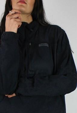 Vintage Timberland Fleece Sweatshirt w Logo Front & 1/4 Zip