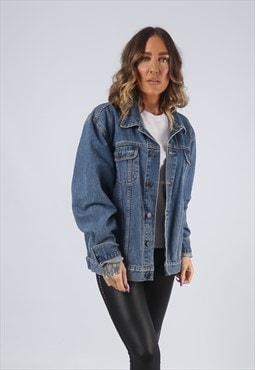 Denim Jacket  Oversized Fitted Vintage UK 18 (LK2D)