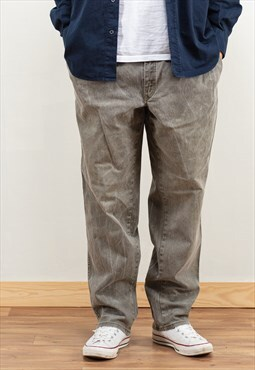 Vintage 90s Men Grey Baggy Jeans