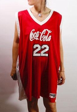 Basketball 90's Coca-cola Cunningham sport varsity top