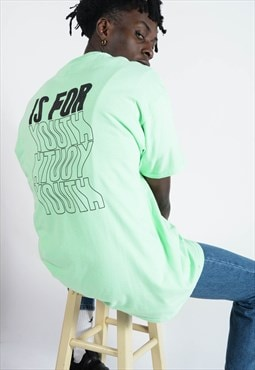 YIFY t-shirt in mint with wavey back print.