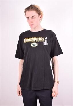 NFL Mens Vintage T-Shirt Top Large Black 90s