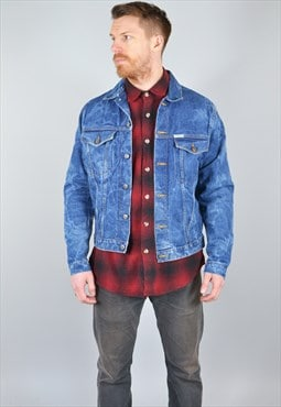 Vintage Faded Denim Jacket Dark Blue