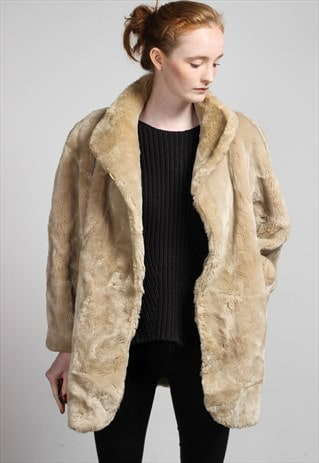 VINTAGE FAUX FUR JACKET