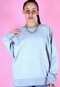 Vintage 90s Adidas Jumper Sweater Grey