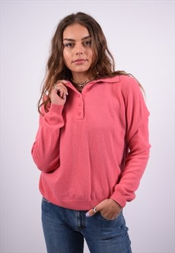 Vintage United Colors Of Benetton Jumper Sweater Pink