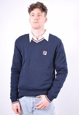 Vintage Fila Jumper Sweater Blue