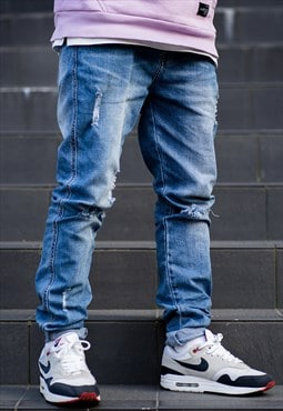 E15 Denim Jeans - Mid Blue Wash