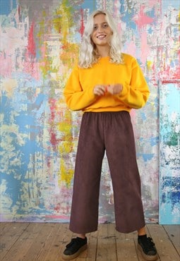 Mulberry Cord Trousers & Gold Crop Sweat Co-ordinates