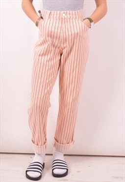 Calvin Klein Womens Vintage Trousers W31 L29 Multi Stripes 9