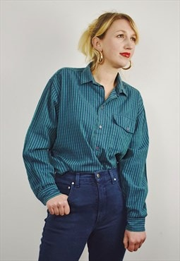 Vintage 90s Striped Cotton Shirt