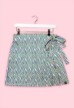 ATOMIC Zebra Print Wrap Stretchy Mini Utility Skirt
