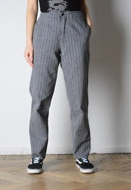 Vintage 90s Grey Striped Pants