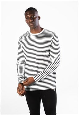Stripe Nautical Long Sleeved T-Shirt - White/Black