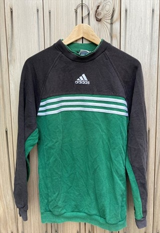 VINTAGE 90'S ADIDAS EMBROIDERED SWEATSHIRT RETRO MEDIUM
