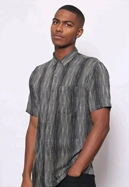Vintage Missoni Pattern Stripe Shirts Grey