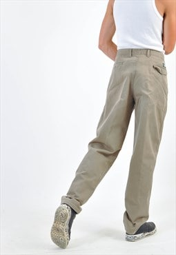 Vintage tapered trousers in beige