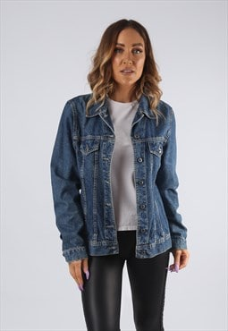Vintage Denim Jacket Fitted UK 12 - 14 (9EAT)