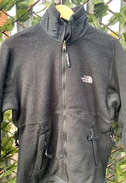 Vintage 90's The North Face Black Zip-Up Fleece S