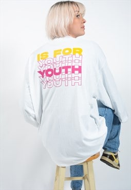 YIFY Repeat Pink Yellow Long Sleeve Top In White