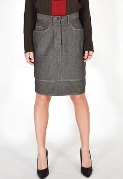 MOSCHINO JEANS Elegant Gray Skirt