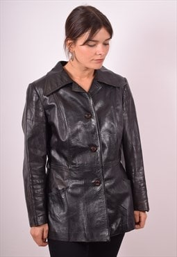 Womens Vintage Jacket Medium Black 90s