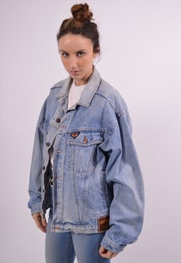 Avirex Womens Vintage Denim Jacket XXL Blue 90s