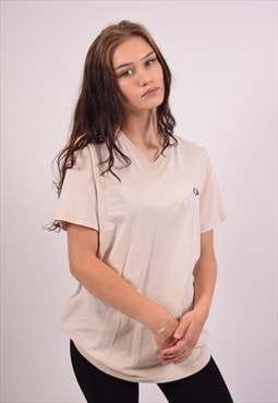 Vintage Fred Perry T-Shirt Top Off White