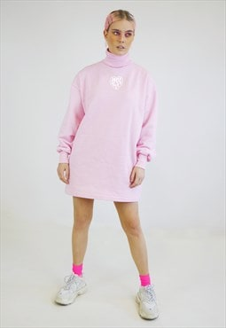 Pink jumper dress