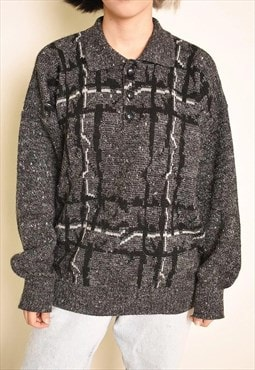 90's retro jazzy slouchy Dads knit oversized jumper