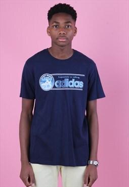 Blue Vintage Adidas Graphic T shirt