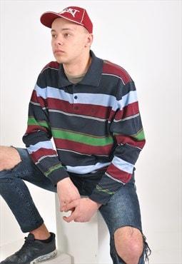 Vintage polo striped jumper