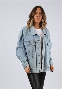 Denim Jacket Oversized Fitted Vintage UK 20 - 22 (GJ3M)