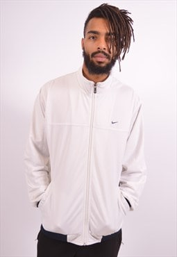 Nike Mens Vintage Tracksuit Top Jacket Medium White 90s