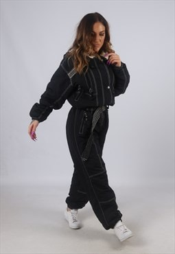 Vintage ONLINE Full Ski Suit Snow Sports UK 12 - 14 (K2N)