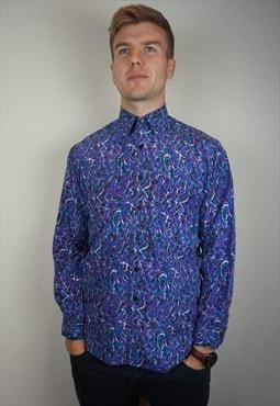 Pure Silk Patterned Shirt