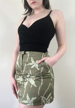 Womens Vintage Fendi skirt FF leopard print high waisted