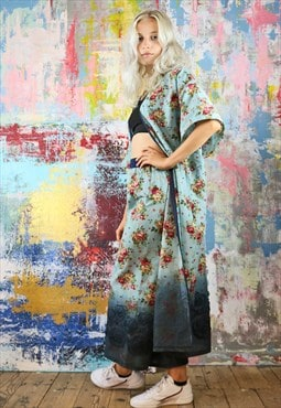 Trousers & Kimono Co-ordinates in dip dye vintage flower