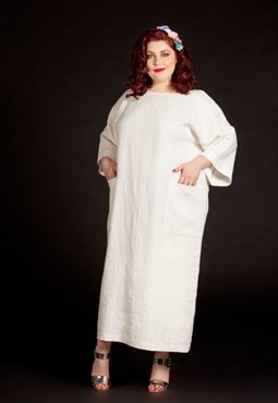 Plus size linen dress/ Plus size dress/ Plus size Kaftan/