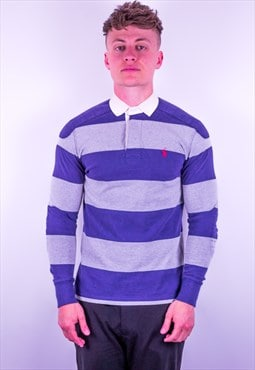 Vintage Ralph Lauren Striped Rugby Polo Shirt