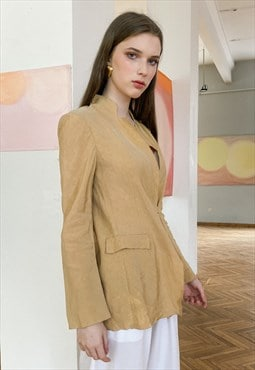 Vintage 80s sand colour soft blazer