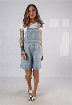 Vintage Denim Dungaree Shorts GAP UK 12 Medium (HDAE)