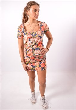 Vintage Moschino Dress Floral Multi