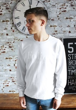 Personalised White Sweatshirt / Slogan/word/initials