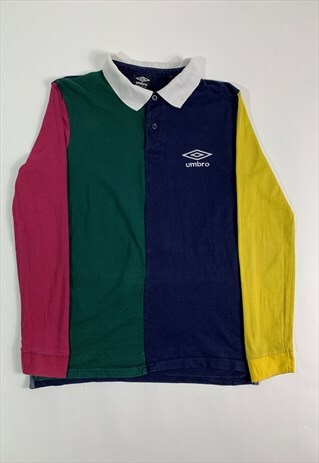UMBRO BLOCK COLOURED RUGBY SHIRT